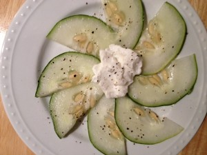 Cucumber yogurt yumminess